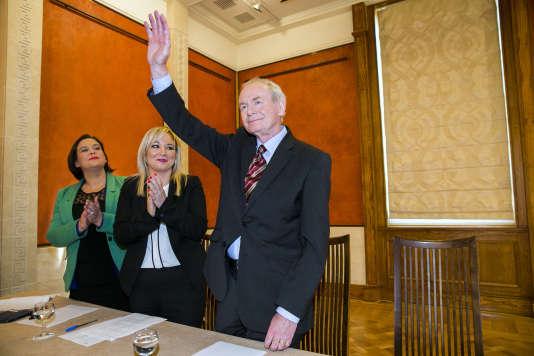 L'ancien vice-premier ministre du gouvernement d'Irlande du Nord, Martin McGuinness, est mort le 21mars 2017.