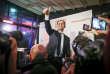Benoît Hamon, candidat à la primaire de la gauche pour la présidentielle 2017, parle devant les médias après l'annonce des résultats du premier tour de la primaire de la gauche sur la péniche Le Quai à Paris, le 22 janvier.
