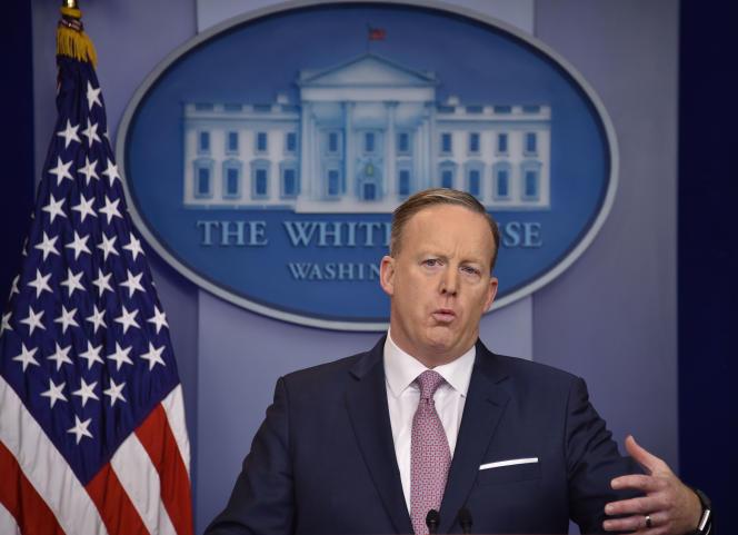 Sean Spicer a entamé lundi son tout premier point presse quotidien en tant que porte-parole de la Maison Blanche.