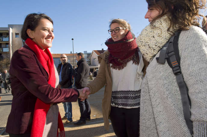 Najat Vallaud-Belkacem visite l'Ecole superieure du professorat et de l'éducation de Clermont-Ferrand, le 6 janvier.