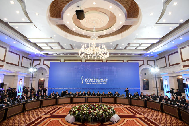 Des négociations se sont ouvertes lundi 23 janvier à Astana, la capitale du Kazakhstan, sous l'égide de la Russie, de la Turquie et de l'Iran.