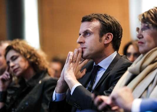 Emmanuel Macron à Beyrouth le 23 janvier.