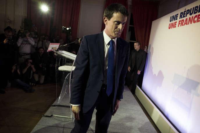 Manuel Valls, dimanche 22 janvier, à la Maison de l'Amérique latine, à Paris.