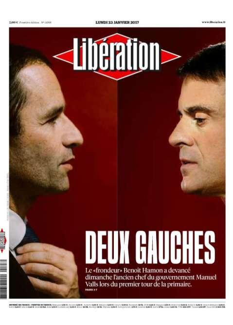Dans son édito du lundi 23 janvier, Laurent Joffrin, directeur de la publication de «Libération», oppose « une gauche qui gère» contre «une gauche qui rêve». Pour lui,«le duel se déroule sur un bateau qui prend l'eau ».