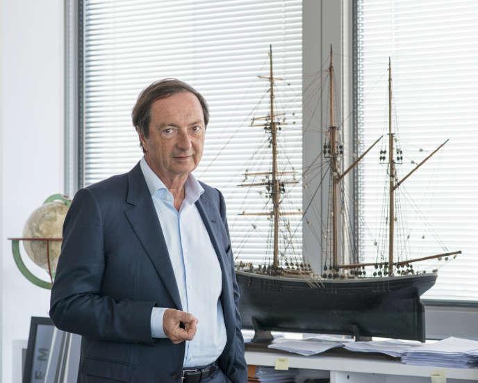 Michel-Edouard Leclerc dans son bureau à Ivry-sur-Seine, en décembre 2016.