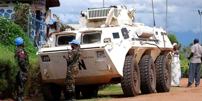Des casques bleus de l'ONU, à Beni, à l'est de la République démocratique du Congo, en octobre 2014.