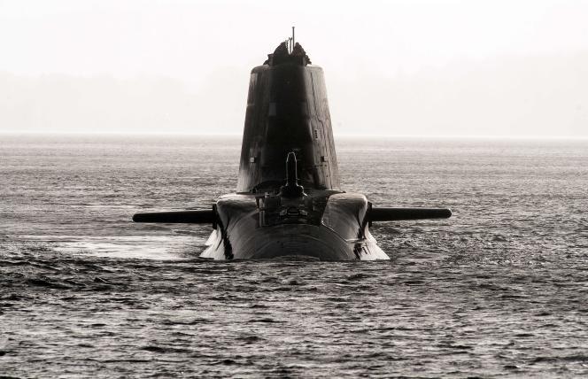 Sous-marin nucléaire d'attaque HMS de la classe Astute de la marine royale britannique, à Faslane, en Ecosse, le 20 novembre 2009.