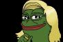 « Pepe The Frog», la mascotte de l'« alt-right» américaine, transformé en Marine Le Pen.