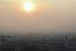 Lyon, dans un brouillard de polution le 23 janvier 2017.