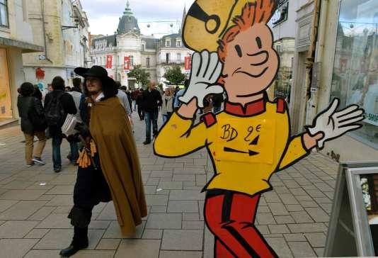 Dans les rues d'Angoulême pendant le festival.