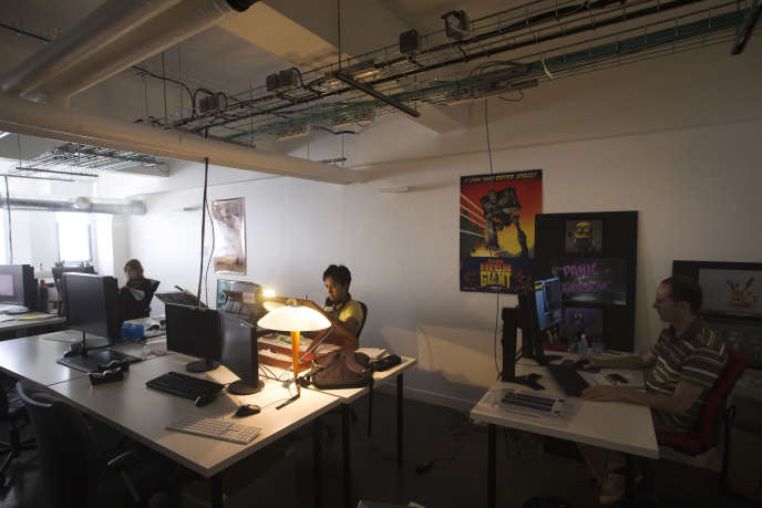 Dans les studios Mac Guff, à Paris, en 2013.