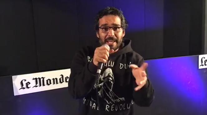 Luaty Beirao, rappeur et militant angolais, au« Monde» le 25 janvier 2016.