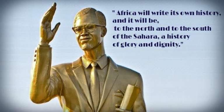 Statue du Congolais Patrice Lumumba, héros de la lutte contre le colonialisme.