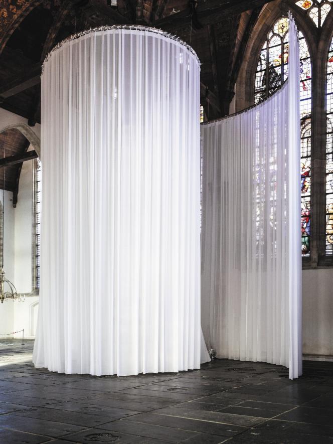 « Labyrinth», de Marinus Boezem (2016), à l'Oude Kerk.