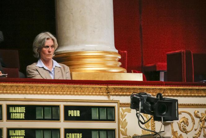 Penelope Fillon dans les tribunes de l'Assemblée nationale, en 2007.