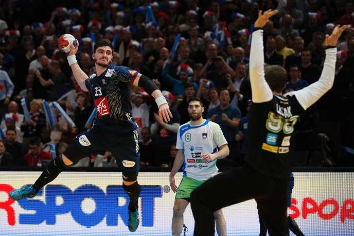 Le pivot Ludovic Fabregas lors de la demi-finale du Mondial de handball 2017 face à la Slovénie.