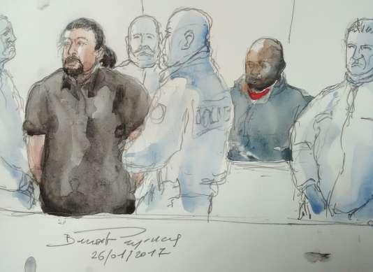 Après le renvoi au dépot de Jawad Bendaoud, seul Mohamed Soumah, un de ses proches, est resté dans le box des accusés.