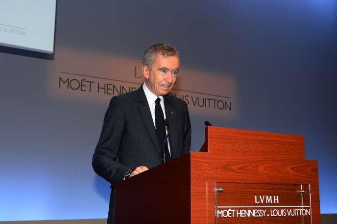 Le PDG de LVMH, Bernard Arnault, à Paris, le 26 janvier.