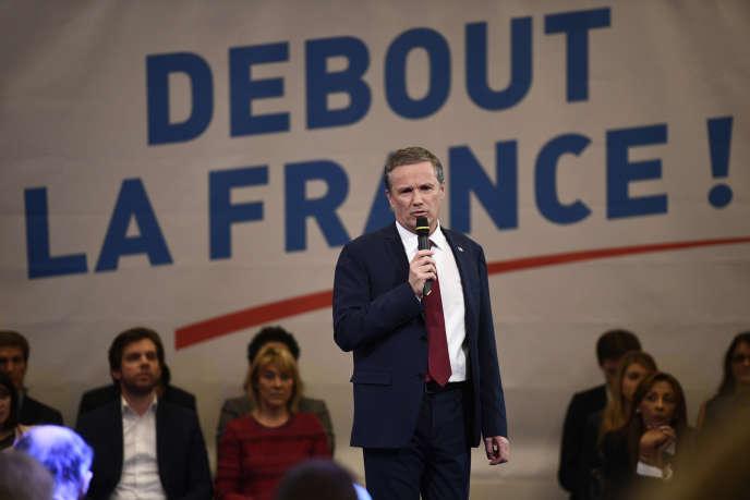 Nicolas Dupont-Aignan, à Paris, le 7 décembre 2016.