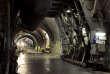 Des engins percent et creusent sur le chantier de la descenderie de Saint-Martin-la-Porte, sur le tracé de la future ligne du TGV Lyon-Turin.
