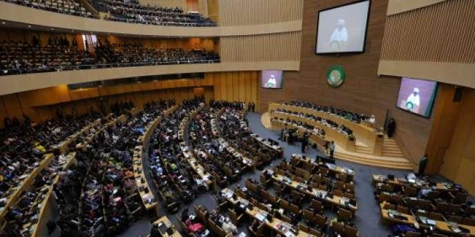Lors du 27e sommet de l'Union africaine, le 30 janvier 2016, à Addis-Abeba, en Ethiopie.