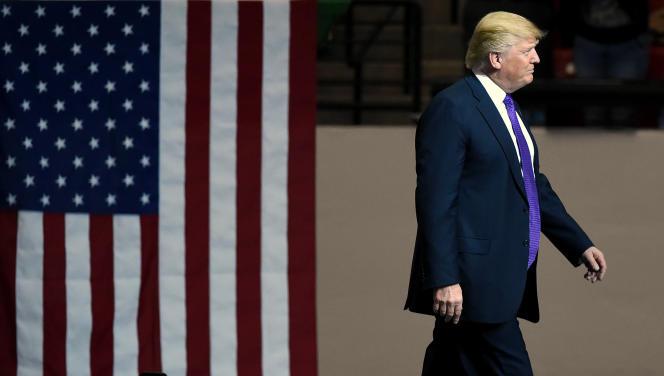 Donald Trump, lors de la primaire républicaine pour l'élection présidentielle américaine, à Las Vegas (Colorado), le 22 février 2016.