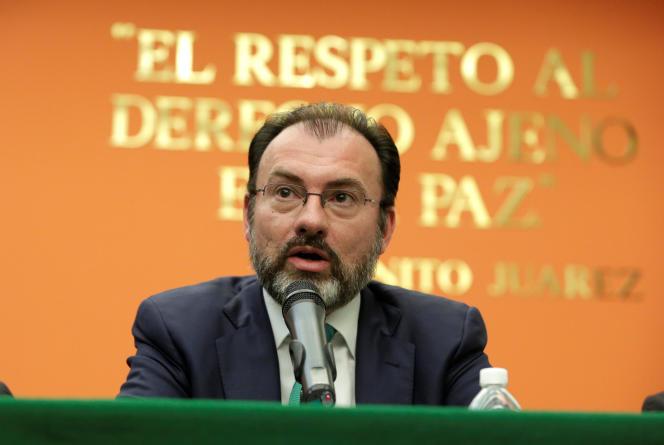 Le nouveau ministre des affaires étrangères du Mexique, Luis Videgaray, était à Washington, le 26 janvier, pour préparer la visite de président mexicain, désormais annulée.