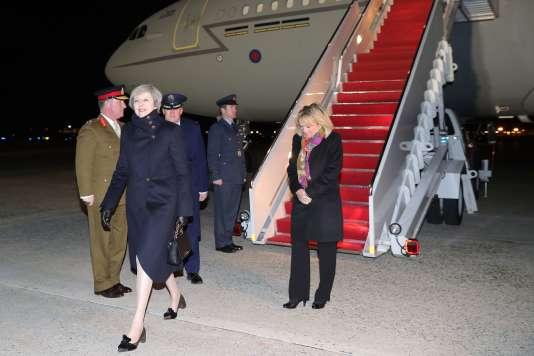 La première ministre britannique Theresa May en visite aux Etats-Unis le 26 janvier.