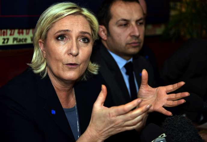 Marine Le Pen, le 27 janvier à Bouchain, dans le Nord.