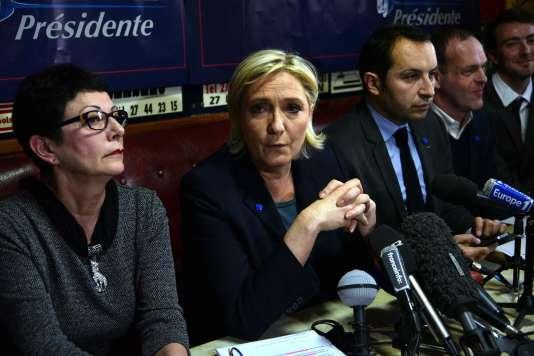 Marine Le Pen, le 27 janvier à Bouchain (Nord).