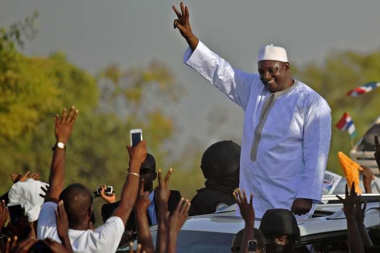 Le président Adama Barrow, le 26 janvier à Banjul.