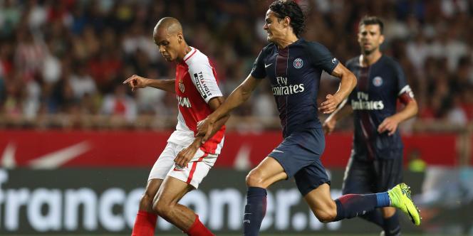 Monaco-Paris-Saint-Germain, le 28 août 2016, au stade Louis-II de Monaco.