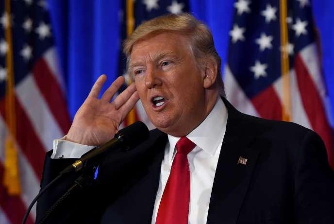 Le président Donald Trump, à New York, le 13 janvier.