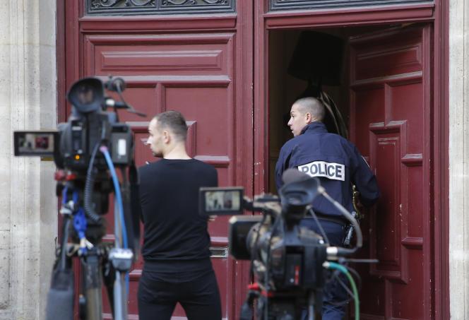 Rue Tronchet à Paris où a eu lieu le braquage de Kim Kardashian dans la nuit du 2 au 3 octobre 2016.