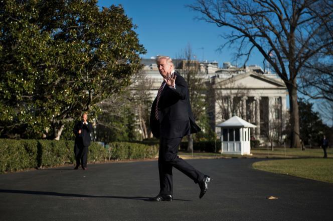 Donald Trump, à la Maison Blanche, le 26 janvier.