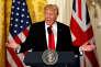 Donald Trump lors de sa conférence de presse commune avec Theresa May à la Maison Blanche, le 27 janvier.