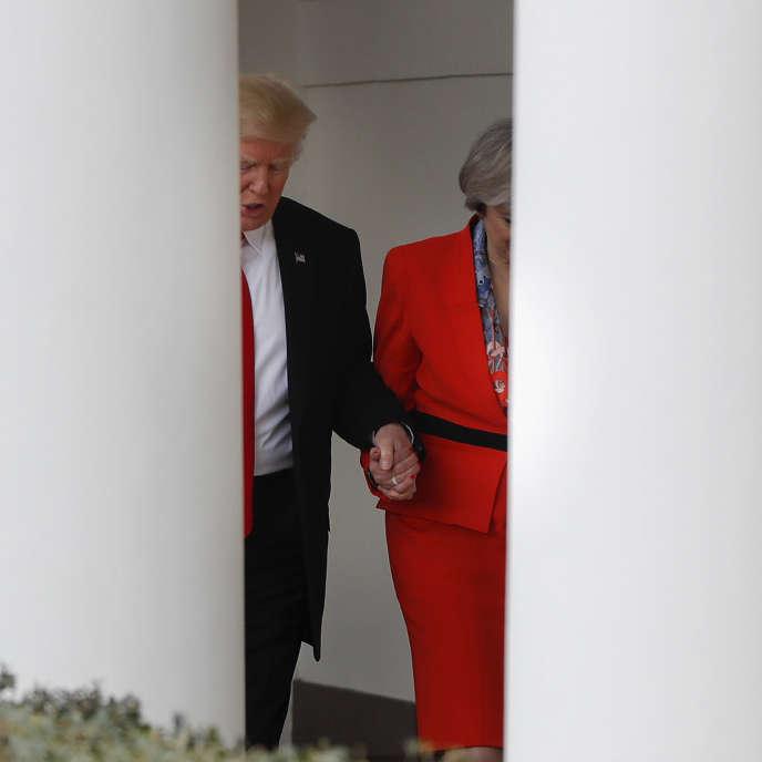 Donald Trump et Theresa May, le 27 janvier, à la Maison Blanche.