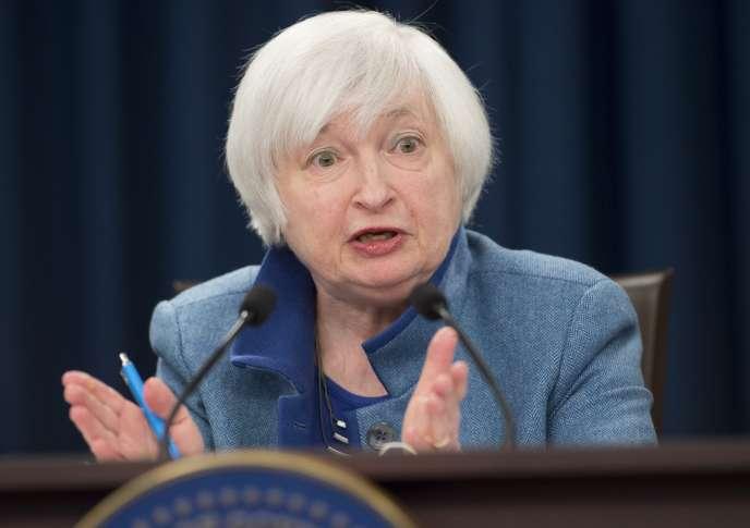 Janet Yellen, patronne de la Reserve fédérale américaine, le 14 décembre à Washington.