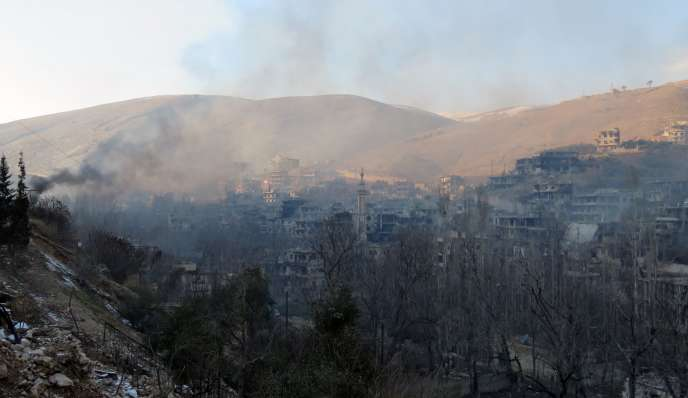 Vue d'Aïn al-Fijé, dans la région de Wadi Barada, au nord-ouest de Damas, le 29 janvier.