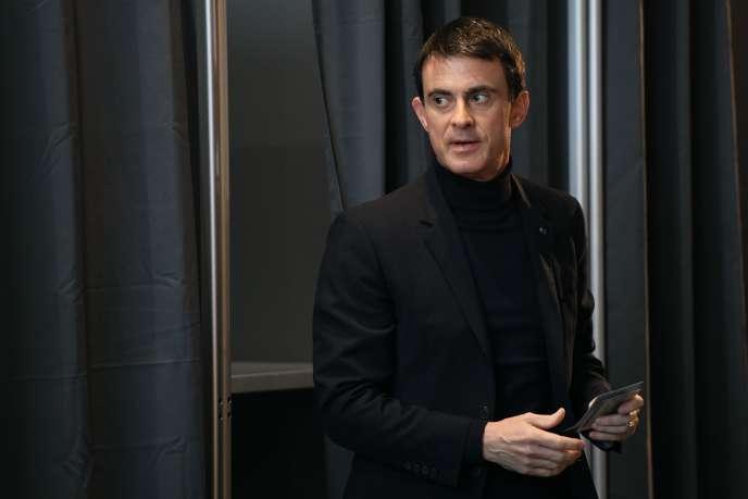 Manuel Valls, ancien premier ministre, le 29 janvier à Evry.