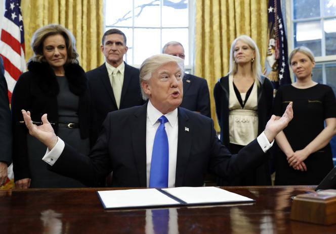 Donald Trump, le 28 janvier à Washington.