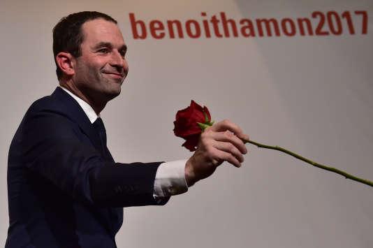 Benoît Hamon après le premier tour de la primaire à gauche, le 29 janvier.