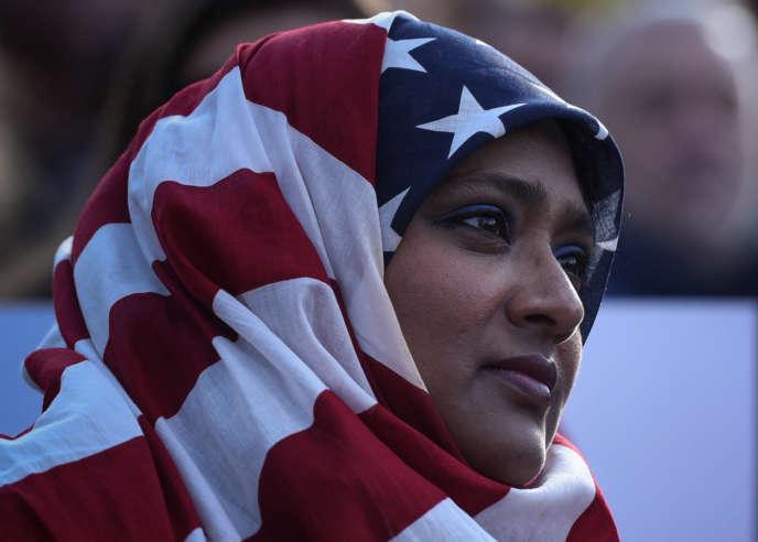 Manifestation à Manhattan dimanche 29 janvier contre le décret de Donal Trump d'interdire aux ressortissants de sept pays du Moyen-Orient.