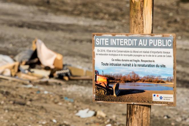 L'ancien site de la «jungle» est desormais interdit au public.