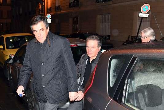 François Fillon et son épouse, le 30 janvier, à Paris.