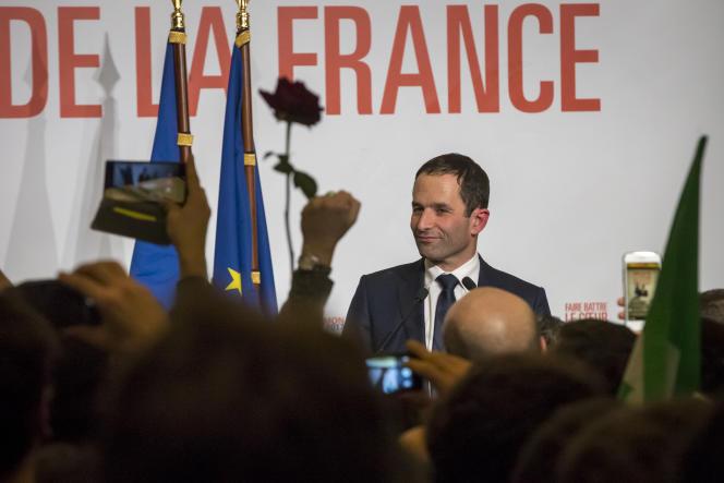 Benoît Hamon, à Paris, le 29 janvier.
