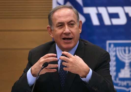 Le premier ministre israélien lors d'une réunion au Parlement, le 30 janvier.