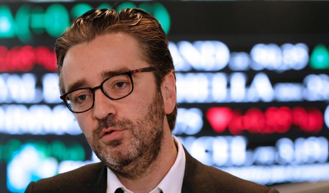Pierre-Antoine Capton, lors de l'introduction de Mediawan sur Euronext, le 22 avril 2016.