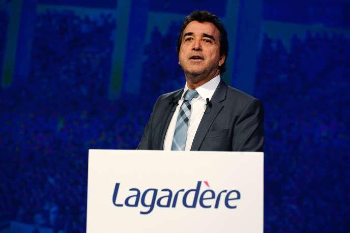 Le PDG du groupe Lagardère, Arnaud Lagardère, le 3mai 2016 à Paris.