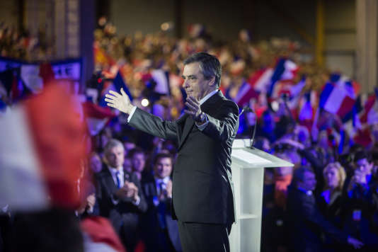 François Fillon lors de son meeting à La Villette, le 29 janvier 2017.